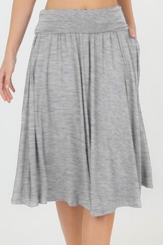 Shelly Heather Gray Skirt