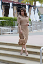 Pamplona Tan Knot Dress