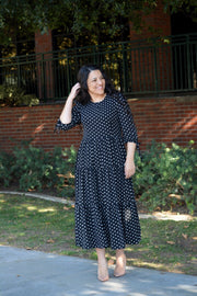 Marbella Black Polkadot Maxi Dress (Overstock Sale - Marked down for a limited time)