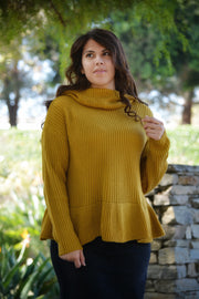 Brooke Mustard Sweater