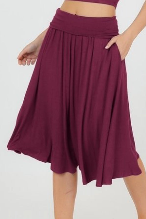 Shelly Burgundy Skirt