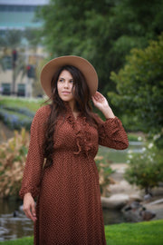 Tawny Camel Dot Dress