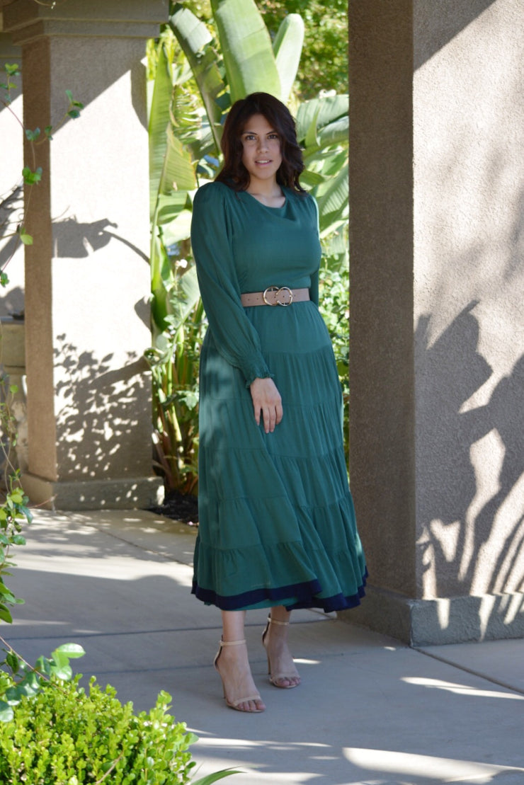 Natalie Color-block Maxi Dress