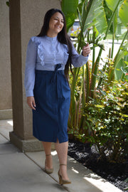 Willa Dark Denim Full Skirt