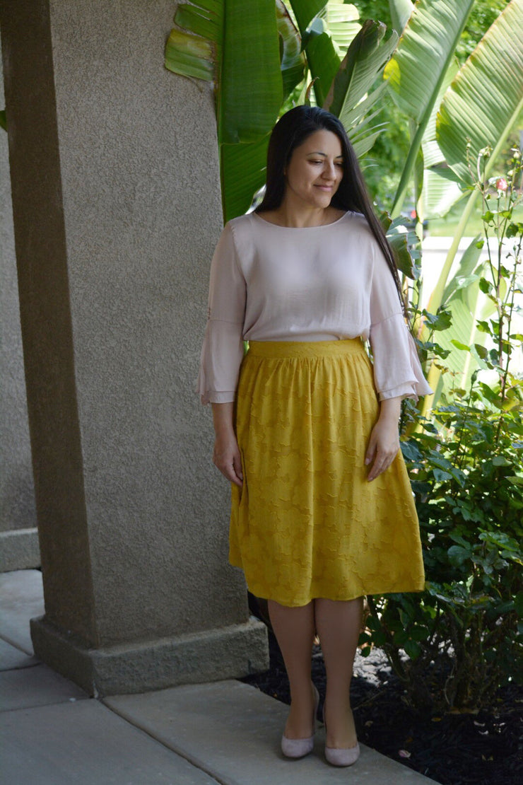 Brittany Embossed Floral Skirt