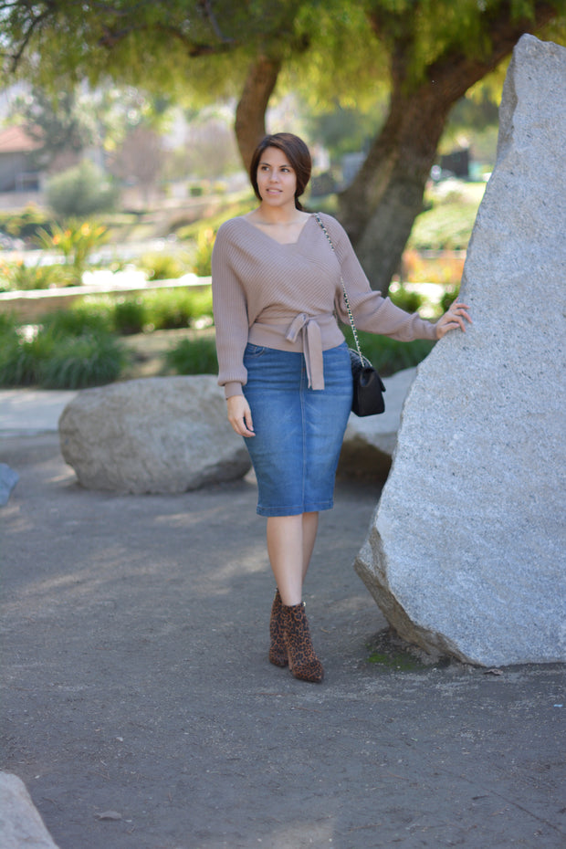 Sharee Taupe Sweater