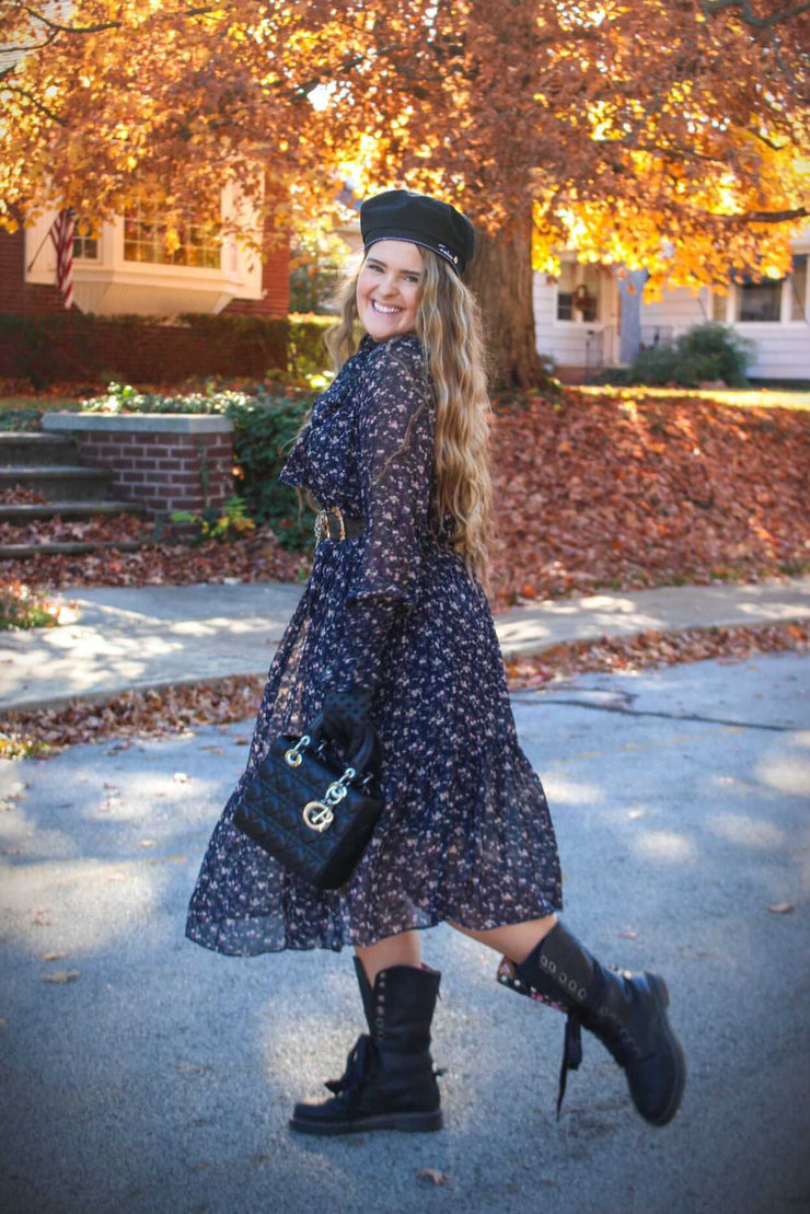 Amber Floral Tiered Dress