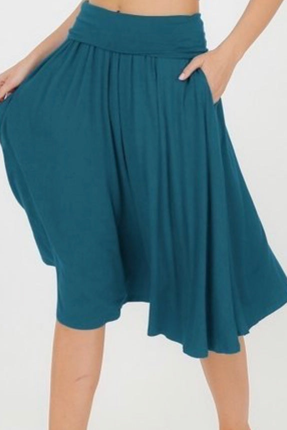 Shelly Teal Skirt