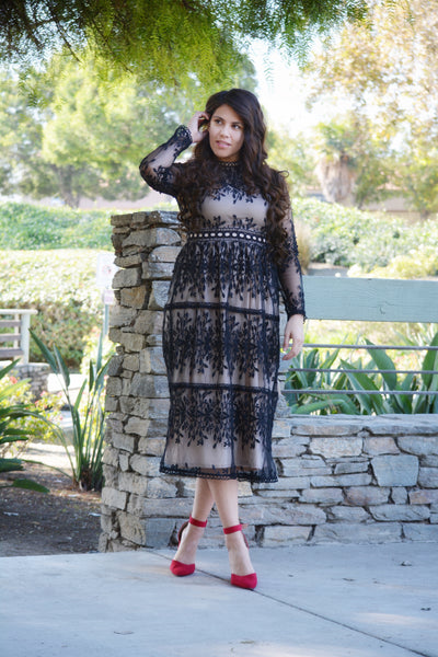 Tara Black Holiday Dress
