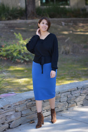 Sharee Black Ballerina Sweater