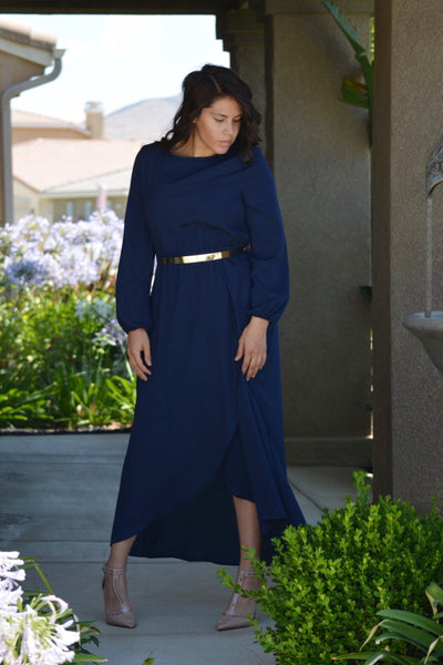 Paris Navy Maxi Dress