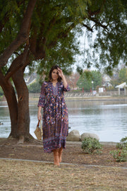 Dinah Boho Navy Dress