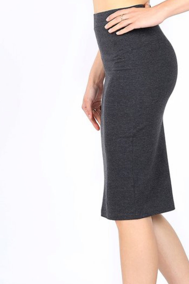 Penny Charcoal Pencil Skirt