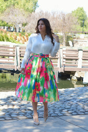 Camilla Watercolor Midi Skirt