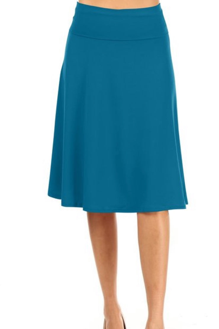 Jackie Teal Skirt