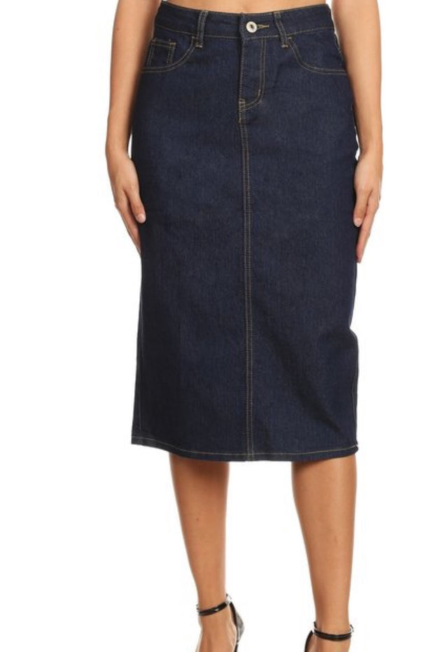 Bella Dark Wash Denim Skirt