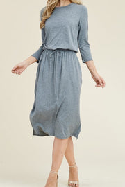 Aria NAVY - Heather Jogger Dress