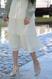 Emma Ivory Ruffled Skirt