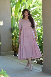 Ada Pink Tiered Dress