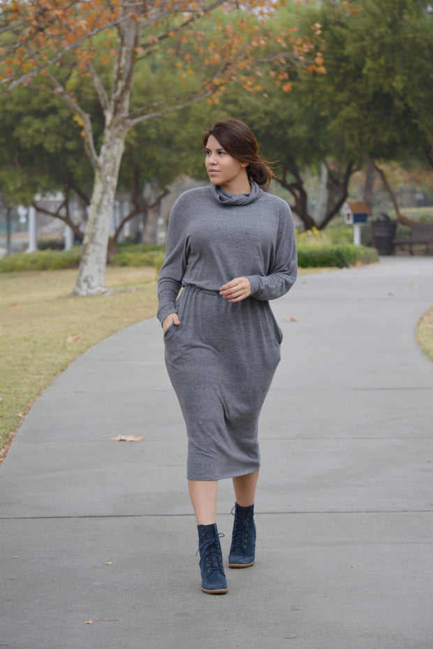 Cordelia Charcoal Dress