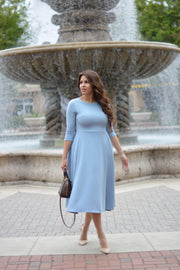 Valencia Blue Midi Dress