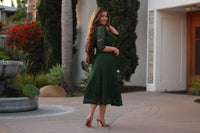 Clementine Green Lace Dress