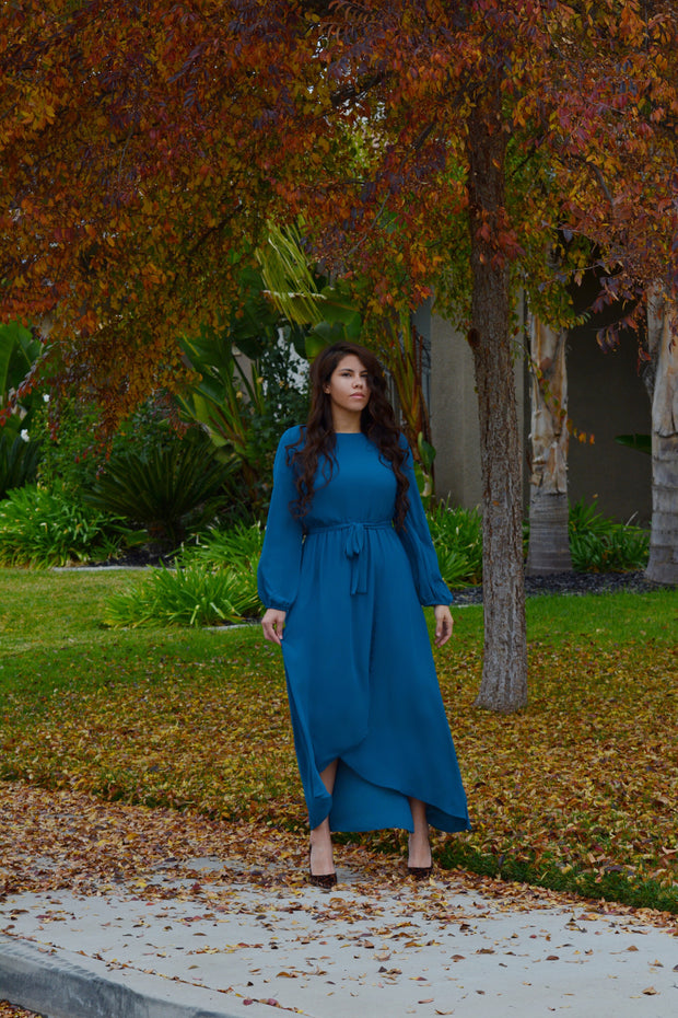 Paris Teal Maxi Dress