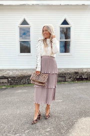 Emma Lavender Ruffled Skirt