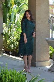 Seville Green Lace Dress