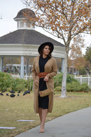 Skylar Camel Long Cardigan