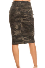 Darla Camo Denim Skirt