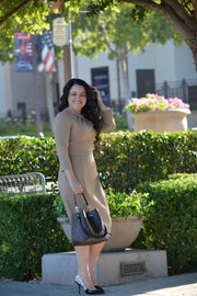 Pamplona Taupe Knot Dress