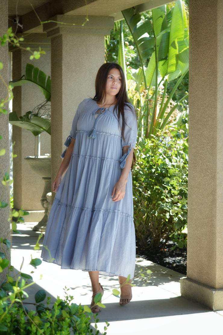 Vivian Pale Blue Boho Dress