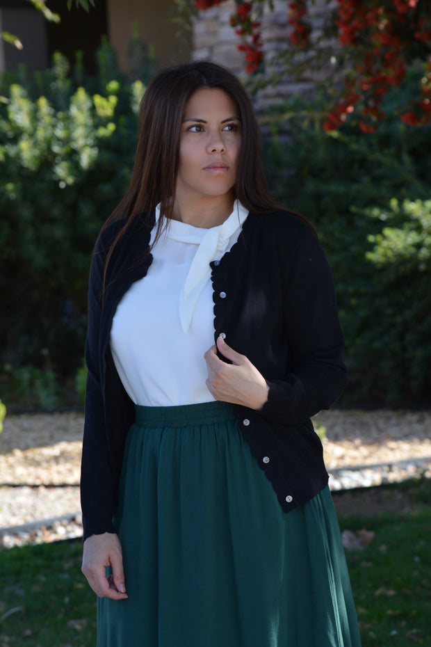 Monica Scalloped Cardigan