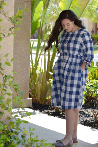 Bellamy Navy Buffalo Plaid Dress