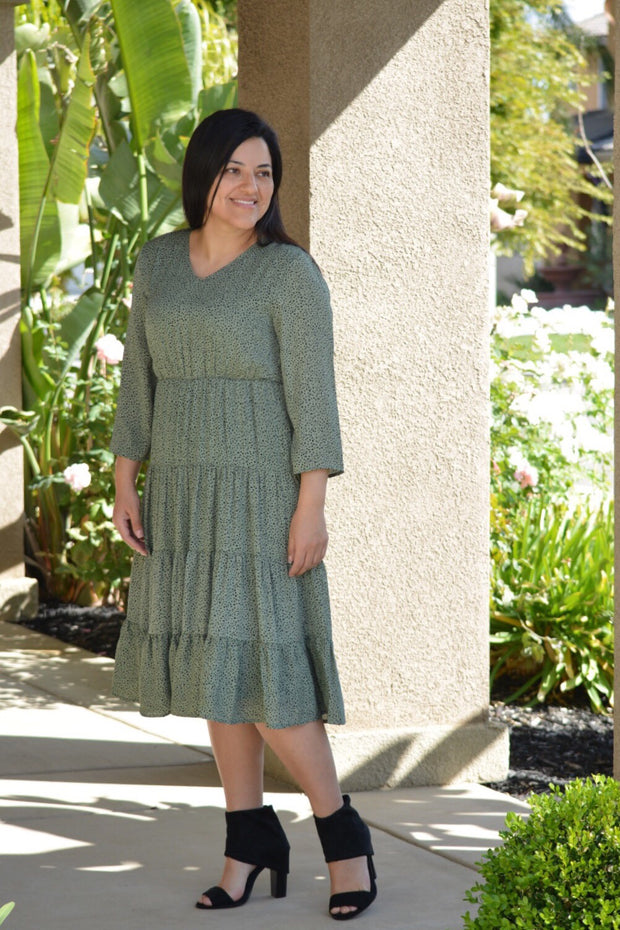 Pippa Sage Dot Dress