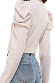 Prim and Pearls Blush Knit Top