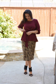 Willow Leopard Twill Skirt