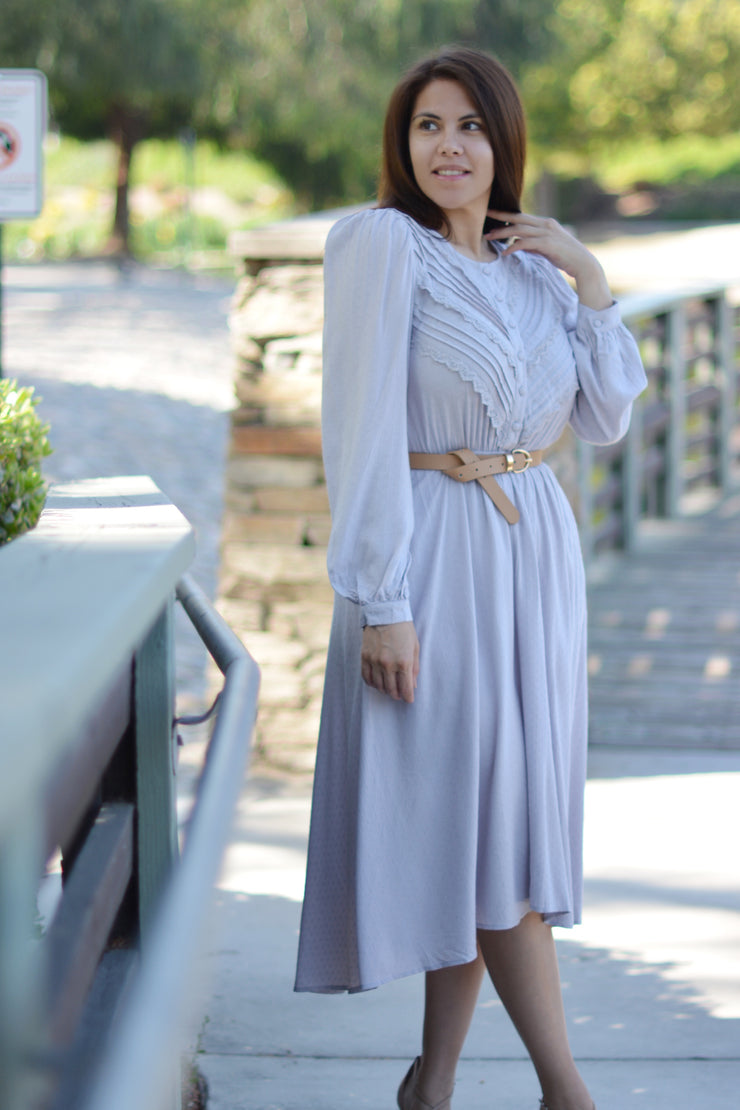 Asher Lavender Embroidered Dress