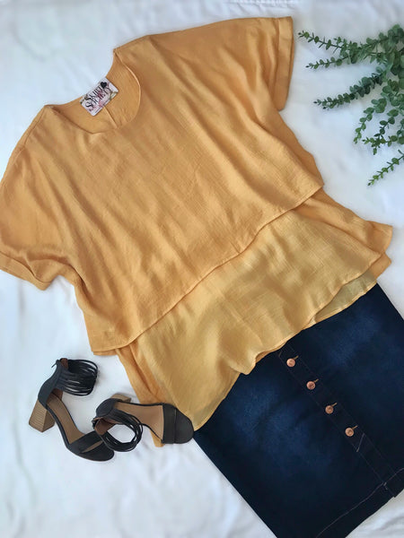 Isabel Mustard Top