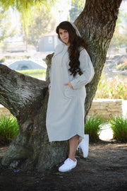 Felicity Heather Gray Hoodie Dress