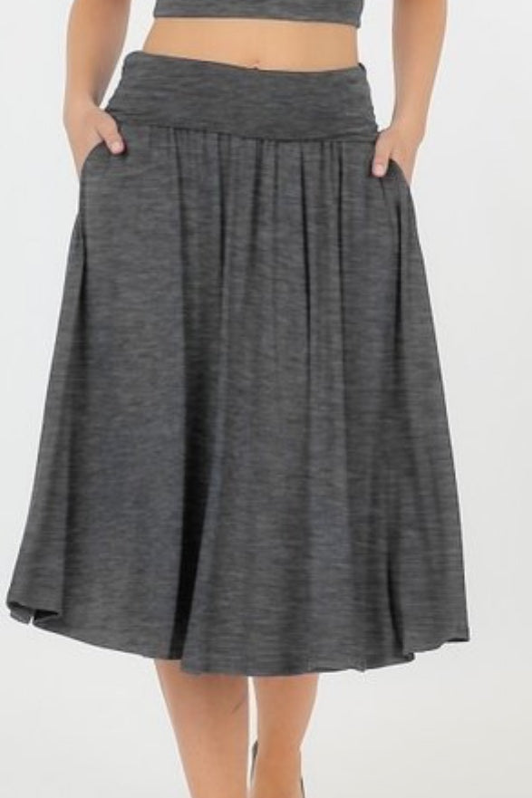 Shelly Charcoal Gray Skirt