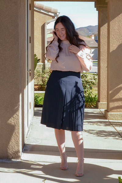Megan Navy Skirt