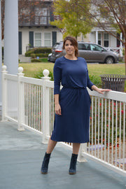Aria Navy Blue Jogger Dress