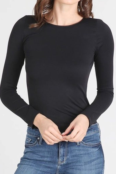 Chelsea Black Seamless Top
