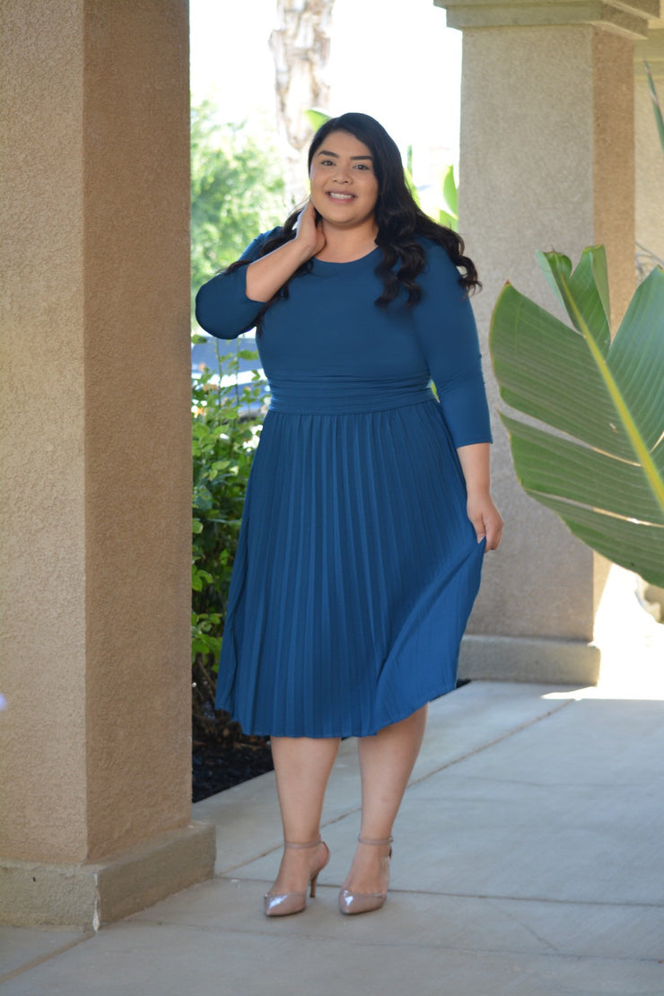 Marseille Teal Dress