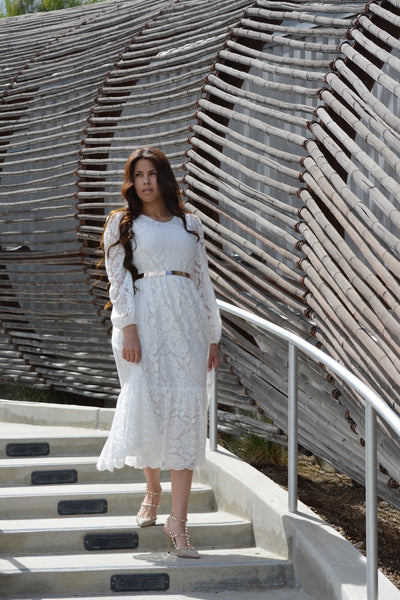 Dahlia White Lace Dress