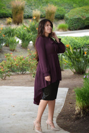 Kayla Black Velvet Skirt