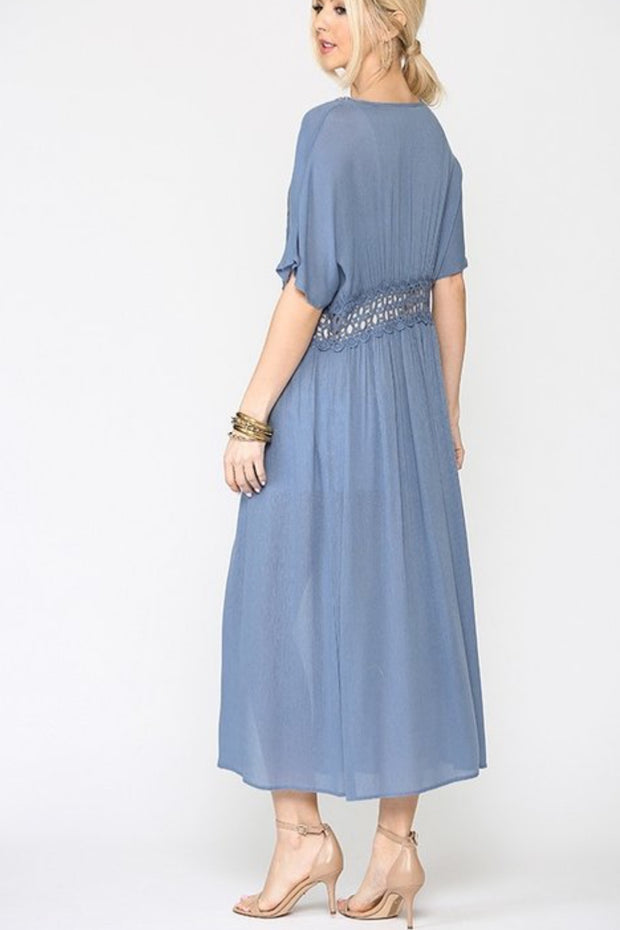 Molly Slate Blue Duster