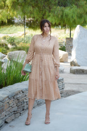 Adele Clay Gold Foil Dot Dress